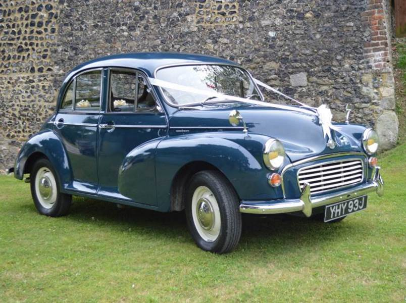BLUEBELL – 1970 Morris Minor Wedding Car