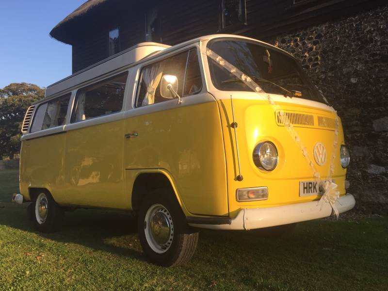 CUSTARD – VW Camper Van Wedding Car