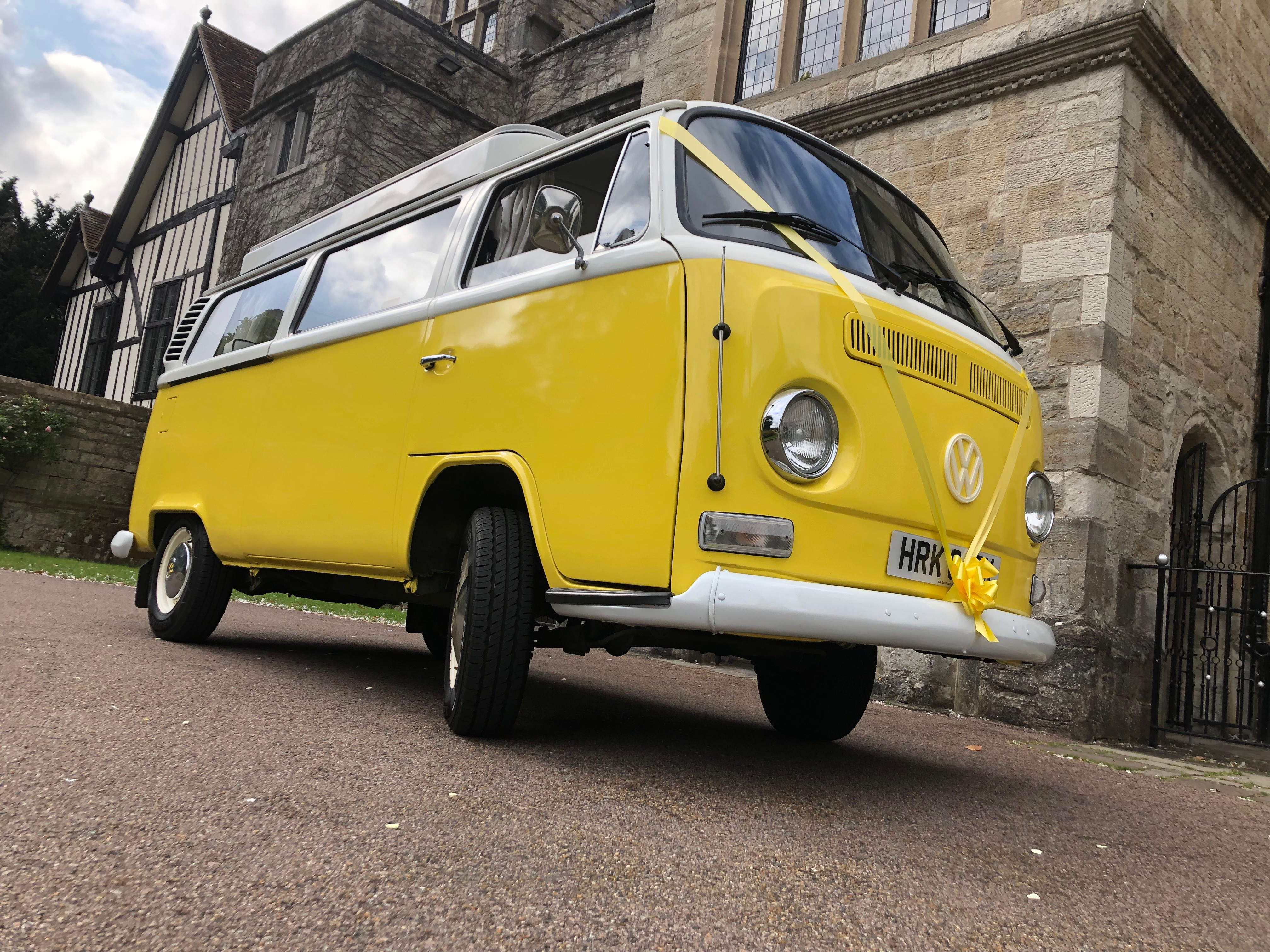 CUSTARD – 1972 VW Camper Van Wedding Car